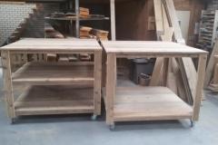 Tafel steigerhout vierkant