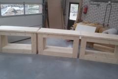 Presentatie tafel steigerhout