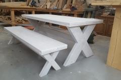 Tafel met bank steigerhout